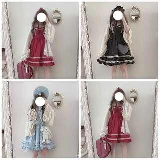 Brand New Souffle Lace Layered Lolita Style Dress JSK