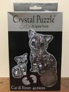Cat&Kitten Crystal Puzzle