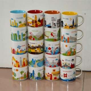 (US & Canada City) Starbucks Coffee Mug YOU ARE HERE COLLECTION 星巴克 咖啡杯 Starbuck