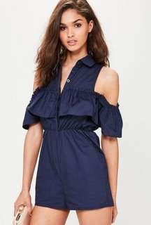 Misguided Navy Playsuit