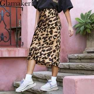 NEW - leopard print skirt