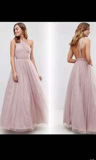 Soft pink tulle dress