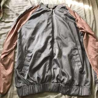 Forever 21 Contemporary Satin Bomber Jacket