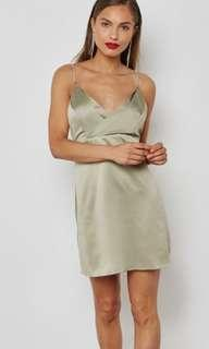 Top Shop - Dimante Strap Mini Slip Dress