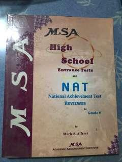 MSA high school Entrance Tests and NAT reviewer for Grade 6