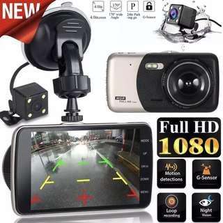 New Car Front & Rear Reverse Camera With Parking Mode Function - Ready Stock