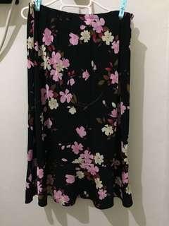 Floral Semi Spandex Skirt