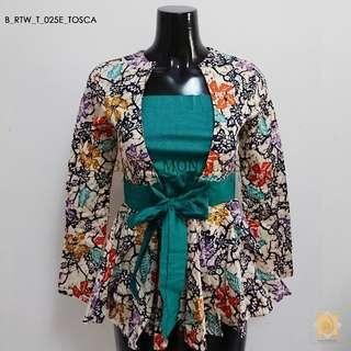 Batik Long Sleeves with ribbon in Tosca
