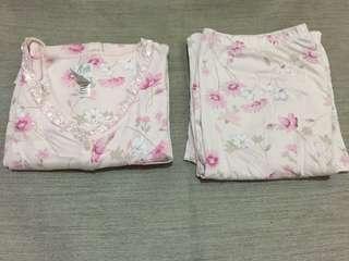 Floral Pajama Terno