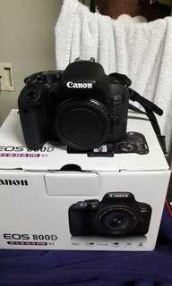 EOS CANON 800D 99 percent new no issue