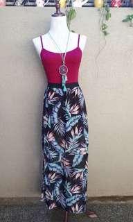 H&M boho maxi skirt with slit