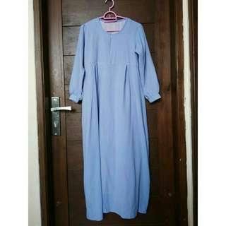 Gamis Baby blue double furing