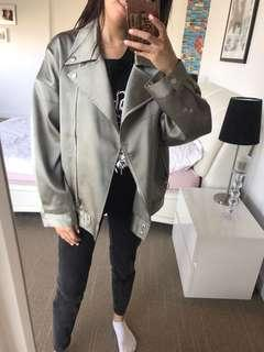 MISSGUIDED Oversized Moss Green Jacket S/M