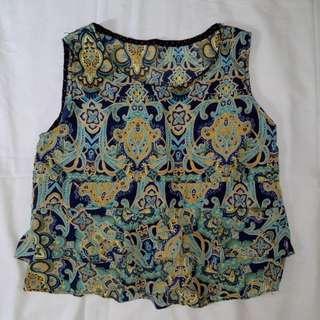 Peplum top sleeveless