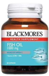 Blackmores Fish Oil 30 capsules (Bundle of 2)