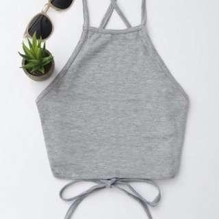 Zaful Open Back Cropped Tank Top