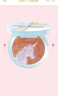 Too faced limited edition unicorn highlighter and bronzer