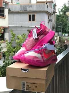 The ten x Nike off white zoom fly pink Us10