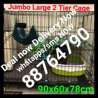 Cat Cage Jumbo Xlarge 2 Tier Pet Cage Free Delivery Deal Now Send Now, whatpps or sms for fast respond