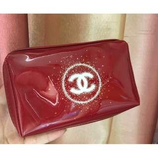 Chanel Vip Gift Glossy Cosmetic Make Up Bag