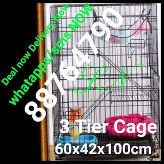 Cat Cage kitten 3 tier pet cage bird rabbit Collasible foldable cage cheapest cage