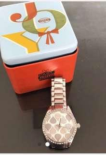 Fossil Unique Water Droplet Crystal Watch