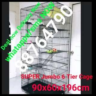 Cat Cage kitten super jumbo Xlarge 6 tier pet cage Collapsible Foldable Cage cheapest cage