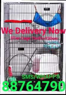 Cat Cage 3 Tier Pet Cage COLLAPSIBLE foldable kitten rabbit bird cage cheapest cage free delivery