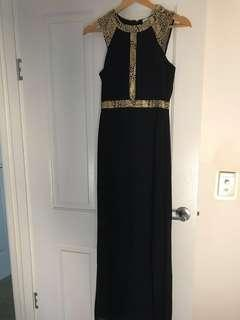 Tokito Maxi Dress Gold/Black Size 6