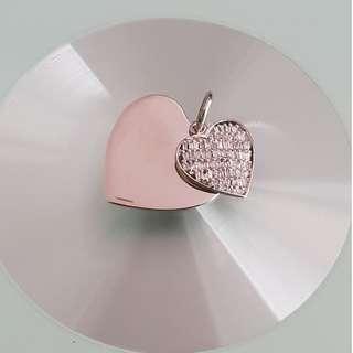 0.75 carats - 18k Diamond Pendant in White Gold
