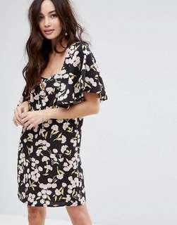 ASOS floral doll dress in size 8