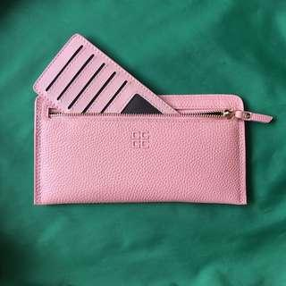 Slim Purse : Ladies Pastel Pink Long Wallet