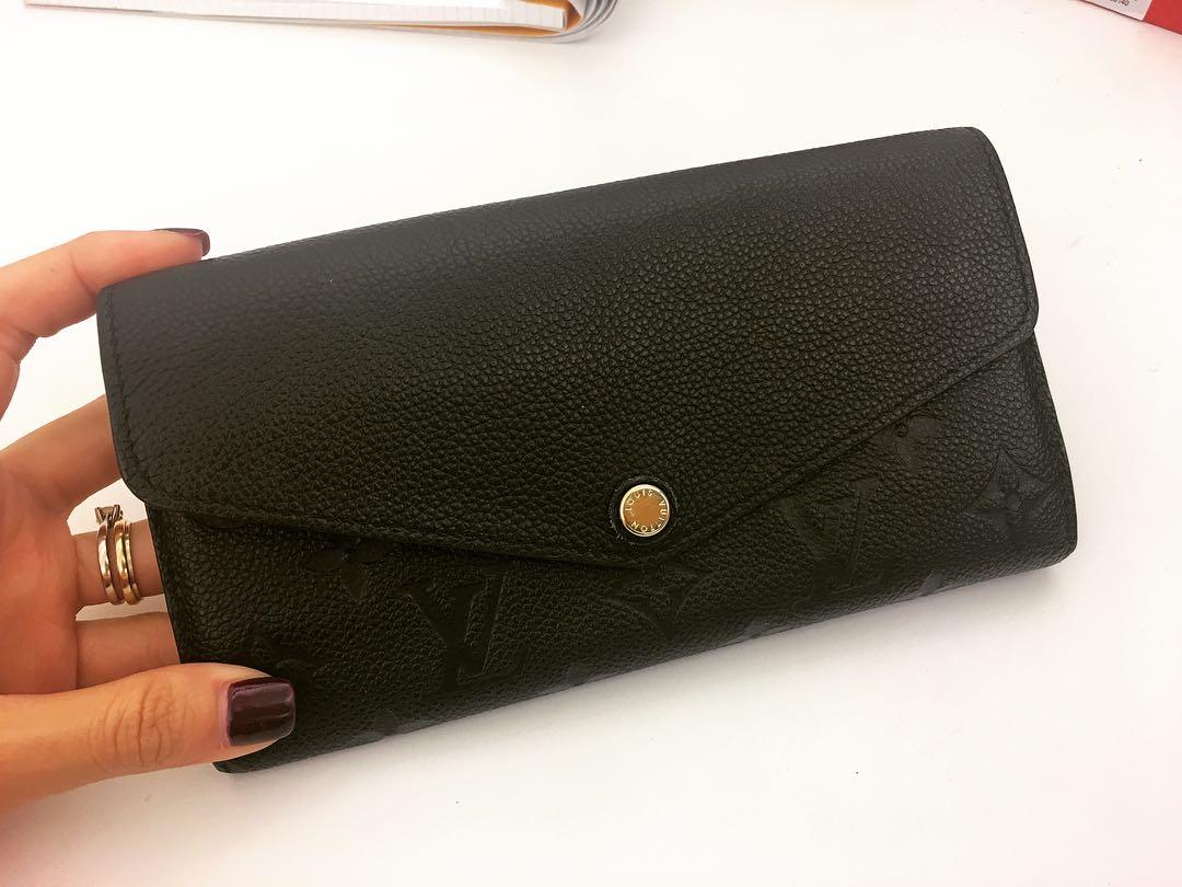 eda8e18bd8e8 100% Genuine Louis Vuitton Sarah Wallet in Empreinte Leather., Luxury, Bags  & Wallets, Wallets on Carousell