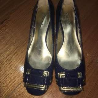 Nine West navy blue heels