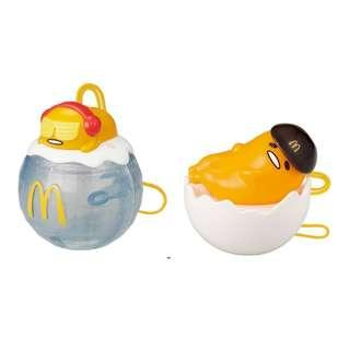 McDonald Happy Meal toy - 2pcs Lazy Egg Gudetama (New & factory sealed condition)
