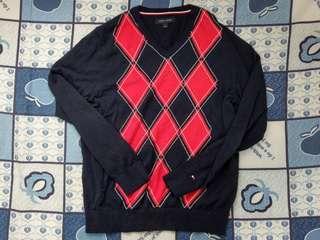 🚚 Tommy Hilfiger 格紋 藏青 針織衫