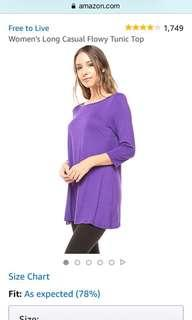 Plus Size Loose Fit Elbow Sleeve Tunic