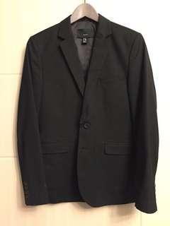 H&M黑色經典西裝32R