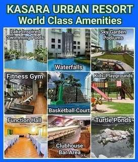 Affordable rent to own condo with world class amenities and man made falls nearby C5,bgc,tiendesitas,megamall,sm pasig,ortigascbd,Eastwood