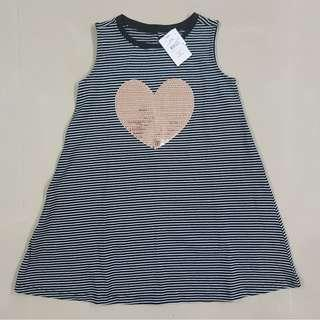 Heart Sequins Dress Girls / Black & White Stripes Sequins Dress Girls 7 years