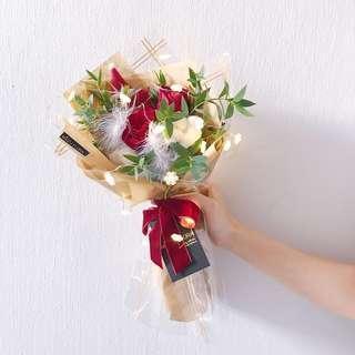 🚚 Christmas Flower Bouquet   Gift   Cotton flower   Birthday Flower   圣诞花束
