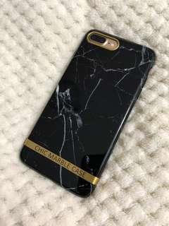 聖誕禮物精選🎅🏻 iPhone 7/8+ 黑色雲石電話殼 CHIC MARBLE CASE phone case