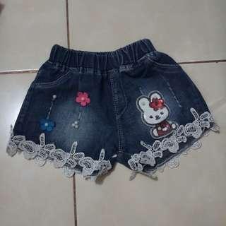 hotpants jeans anak size 1-2tahun
