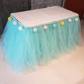 [RENTAL] Dessert Table_Party Props_Tiffany Table Tutu Skirting
