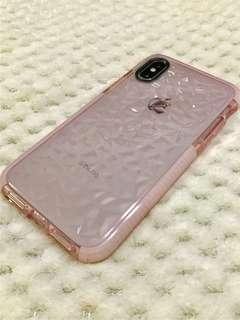 聖誕禮物精選🎅🏻 Iphone XS 電話殼手機套粉紅水晶 mobile phone case pink crystal
