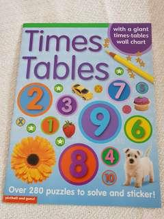 Time Tables with stickers