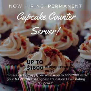 Bakery Shop - Cupcake Attendant | Min PSLE | Up to $1800