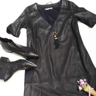 Authentic leather dress