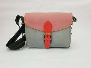 NEW : Full Leather Colour Sling Bag