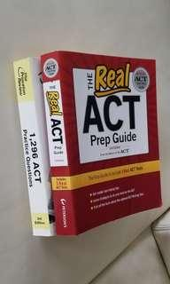 Offical ACT Prep Guide + The Princeton Review ACT practice questions